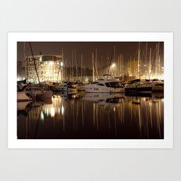 Ipswich Harbour Art Print