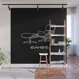Mid-century - Eames Lounge Chair Sketch (WN) Wall Mural