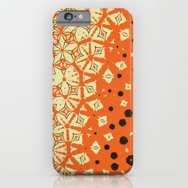 Orange, Yellow and Black Abstract  iPhone Case