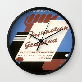 Vintage poster - Injunction Granted Wall Clock