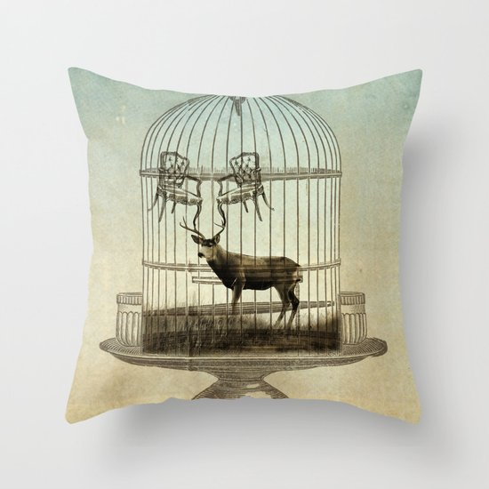 stag chairs Throw Pillow