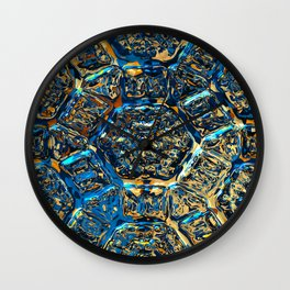Intriguing shimmering Star Pattern, funky version Wall Clock