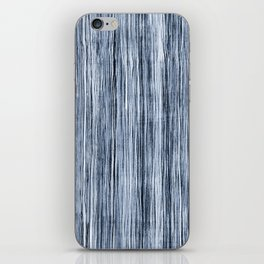 Blue Watercolor Wood Grain Stripe iPhone Skin