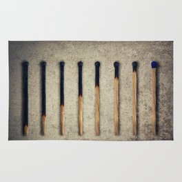 burnt matches stairsteps Rug