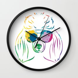 Funky Poodle Wall Clock