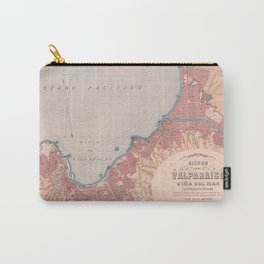 Vintage Map of Valparaiso Chile (1895) Carry-All Pouch