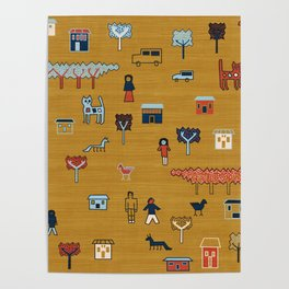 Citta in Gold Poster