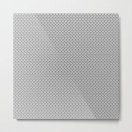 Silver Gray Scales Pattern Metal Print