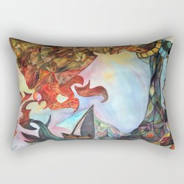 Colorful Nightmre Rectangular Pillow