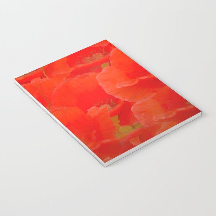 Red Poppies #decor #buyart #society6 Notebook