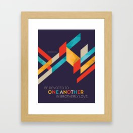 One Another Scripture Poster: Romans 12 Framed Art Print