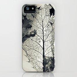 Skeleton Leaf iPhone Case