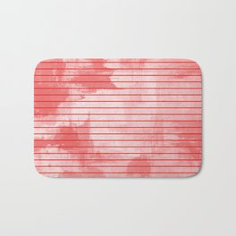 Seeing Red - Textured, geometric red Bath Mat