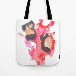 Watercolor Pink Black Flow | [dec-connect] 18. two hearts Tote Bag