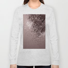 Sparkling Mauve Lady Glitter #1 #shiny #decor #art #society6 Long Sleeve T-shirt