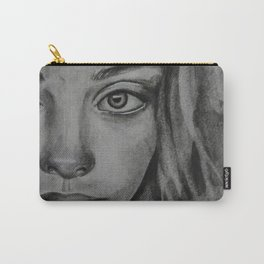Coal portrait beautiful girl Carry-All Pouch