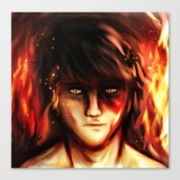 zuko Canvas Prints featuring Fire Lord Zuko by malfunction321