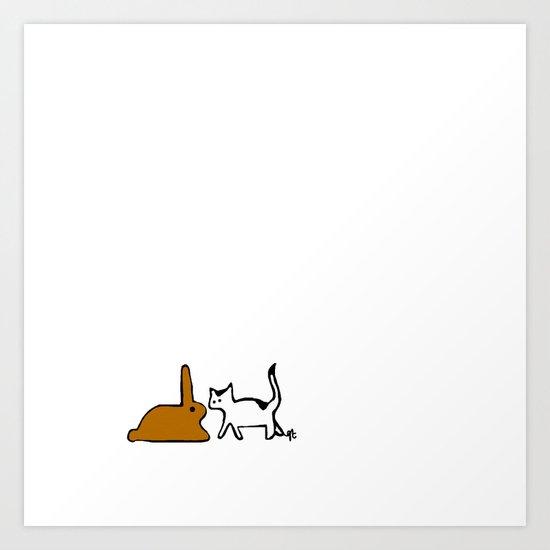 Bunny. Art Print