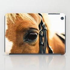 a horse's kind eyes. iPad Case
