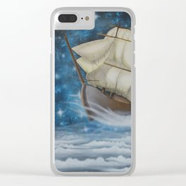 Sailing in the Stars Clear iPhone Case