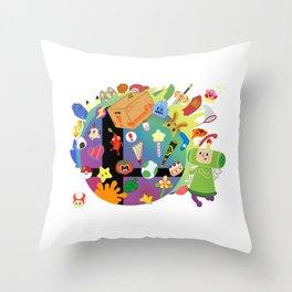 Super Smash Katamari Throw Pillow