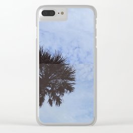 palm trees but distorted Clear iPhone Case