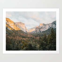 Yosemite Valley, October Art Print