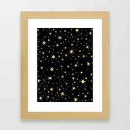 Hufflepuff Chapter Stars Framed Art Print