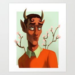 He's a faun guy Art Print