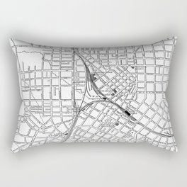 Vintage Map of Atlanta Georgia (1901) BW Rectangular Pillow