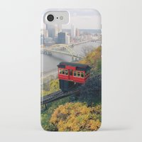 steelers iPhone & iPod Cases featuring An Autumn Day on the Duquesne Incline in Pittsburgh, Pennsylvania by Ed Lightcap