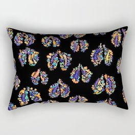 Lungs on Fire Rectangular Pillow