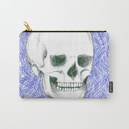 Skeleton in Blue Carry-All Pouch
