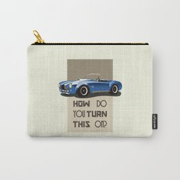 The Classic Game Cheat Code: How do you turn this on Funny Blue Cobra Car Carry-All Pouch