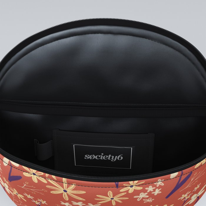 Chalky Floral Pattern Fanny Pack