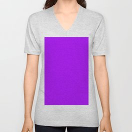 Modern neon purple trendy colors Unisex V-Neck