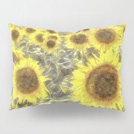 Sunflower Fields Of Summer Watercolour Pillow Sham