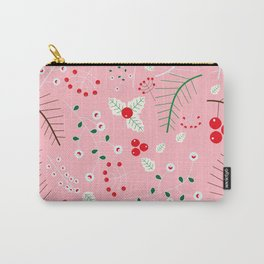 mistletoe Pink Carry-All Pouch