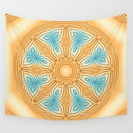 Sea Beach Summer Kaleidoscope Abstract Pattern Wall Tapestry