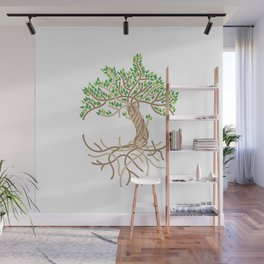 Rope Tree of Life. Rope Dojo 2017 white background Wall Mural