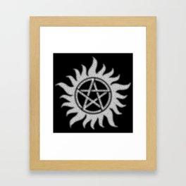 Carry On Supernatural Pentacle Framed Art Print