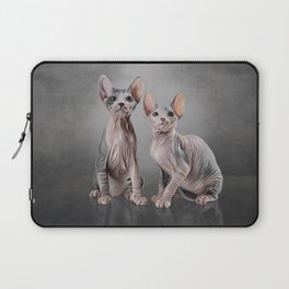Drawing two cats Sphynx, hairless Laptop Sleeve