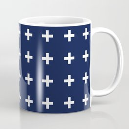 Indigo Navy Blue Cross Plus Coffee Mug