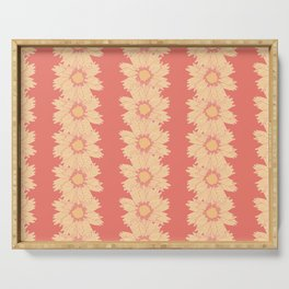 Doodle Calliopsis Pattern Serving Tray
