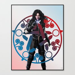 Yennefer of Vengerberg and her obsidian star - The Witcher Canvas Print