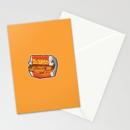 Pixel Chicken Nuggets Stationery Cards