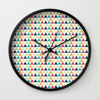 triangle Wall Clocks featuring triangle by Sébastien BOUVIER