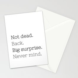 Not dead. Back - Doctor Who - TV Show Collection Stationery Cards