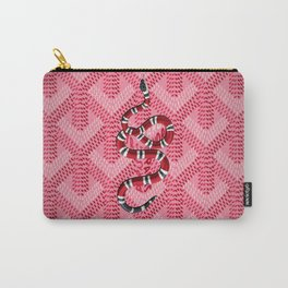 Goyard Pink Snake Carry-All Pouch