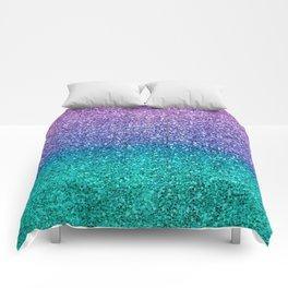 Lavender Purple & Teal Glitter Comforters